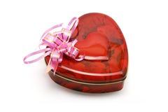 Rectángulo de regalo en forma de corazón de galletas imagenes de archivo