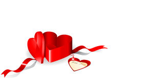 Rectángulo de regalo en una dimensión de una variable del corazón Libre Illustration