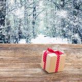 Rectángulo de regalo hecho a mano Imágenes de archivo libres de regalías