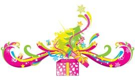 Rectángulo de regalo mágico ilustración del vector