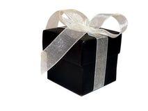 Rectángulo de regalo negro Imágenes de archivo libres de regalías