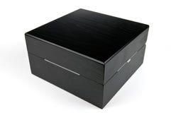 Rectángulo de regalo negro Imagen de archivo libre de regalías