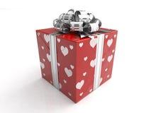Rectángulo de regalo para el amor o las tarjetas del día de San Valentín Fotos de archivo libres de regalías