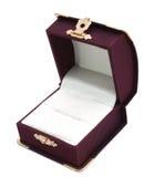 Rectángulo de regalo para el anillo Fotografía de archivo