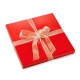 Rectángulo de regalo plano Fotografía de archivo libre de regalías