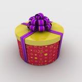 Rectángulo de regalo redondo Imagen de archivo libre de regalías