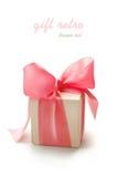 Rectángulo de regalo retro Imágenes de archivo libres de regalías