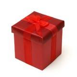 Rectángulo de regalo rojo Fotos de archivo