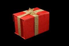 Rectángulo de regalo rojo Imagenes de archivo