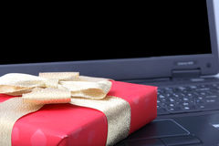 Rectángulo de regalo rojo Imagen de archivo libre de regalías