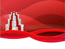 Rectángulo de regalo rojo del vector Foto de archivo