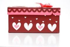 Rectángulo de regalo rojo hecho a mano hermoso Imágenes de archivo libres de regalías