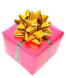 Rectángulo de regalo rosado de la Navidad Imágenes de archivo libres de regalías