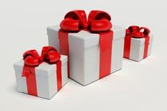 Rectángulo de regalo sobre el fondo blanco Fotos de archivo