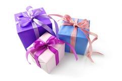 Rectángulo de regalo tres Foto de archivo libre de regalías