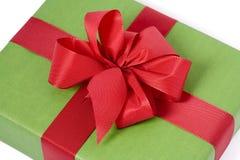 Rectángulo de regalo verde foto de archivo