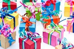 Rectángulo de regalos colorido Fotografía de archivo