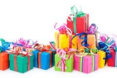 Rectángulo de regalos colorido Imagen de archivo