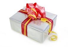 Rectángulo de regalos de la Navidad aislado Foto de archivo