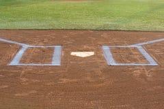 Rectángulo de taludes del béisbol Fotografía de archivo libre de regalías