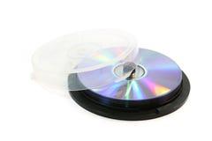 Rectángulo de torta para los discos laser Fotos de archivo