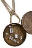 Rectángulo de trabajo con los diamantes Imagenes de archivo