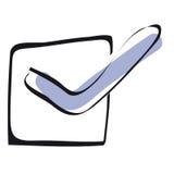Rectángulo de verificación Imágenes de archivo libres de regalías