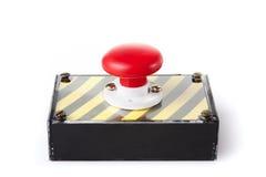 Rectángulo del botón de pánico aislado en blanco imágenes de archivo libres de regalías