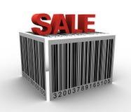 rectángulo del código de barras 3D Foto de archivo libre de regalías