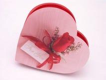 Rectángulo del caramelo de las tarjetas del día de San Valentín - se levantaron 4 imagen de archivo libre de regalías