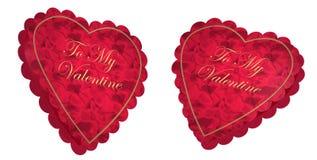 Rectángulo del caramelo del corazón de la tarjeta del día de San Valentín ilustración del vector
