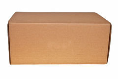 Rectángulo del cartón de Brown. fotografía de archivo libre de regalías