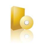 rectángulo del Cd del vector 3d Imágenes de archivo libres de regalías