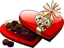 Rectángulo del chocolate del corazón Fotografía de archivo