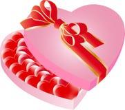 Rectángulo del corazón de la tarjeta del día de San Valentín Foto de archivo libre de regalías