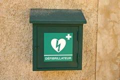 Rectángulo del Defibrillator Fotografía de archivo