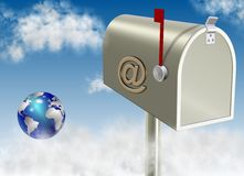 Rectángulo del email Imágenes de archivo libres de regalías