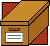 Rectángulo del fichero de la cartulina ilustración del vector