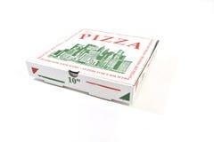Rectángulo del mismo tamaño de la pizza Fotografía de archivo