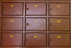 Rectángulo del poste Fotos de archivo libres de regalías