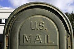 Rectángulo del poste de los E.E.U.U. en la calle Fotos de archivo libres de regalías