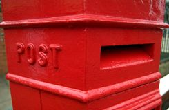 Rectángulo del poste del Victorian Foto de archivo libre de regalías