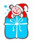 Rectángulo del ratón y de regalo Imagen de archivo libre de regalías