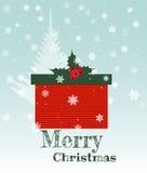 Rectángulo del regalo de Navidad Foto de archivo libre de regalías