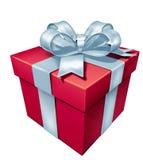 Rectángulo del rojo del regalo Imagenes de archivo