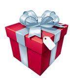 Rectángulo del rojo del regalo Foto de archivo