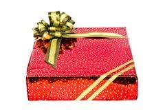 Rectángulo del rojo del regalo Imágenes de archivo libres de regalías