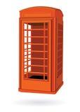 Rectángulo del rojo del teléfono de Londres Foto de archivo libre de regalías