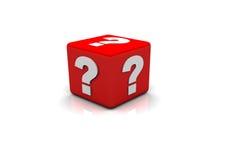 Rectángulo del signo de interrogación Imágenes de archivo libres de regalías