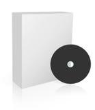 Rectángulo del software con el dvd Imágenes de archivo libres de regalías